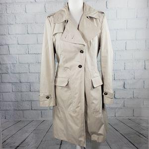 Calvin Klein - cream trench coat